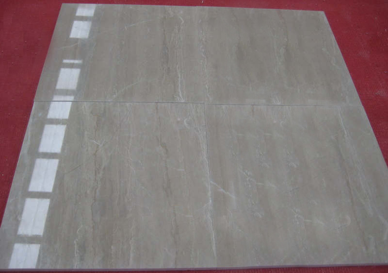 Wooden Yellow Vein Cut Polished Marble Tiles