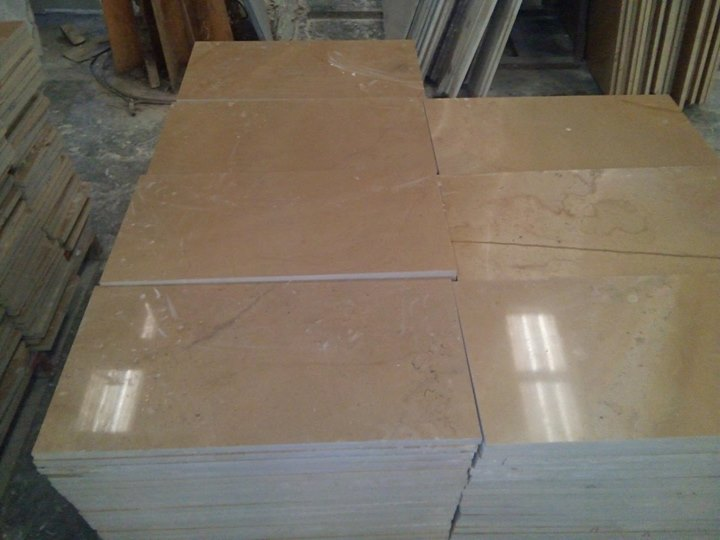 Yelllow Color Limestone Tiles Polished for Flooring