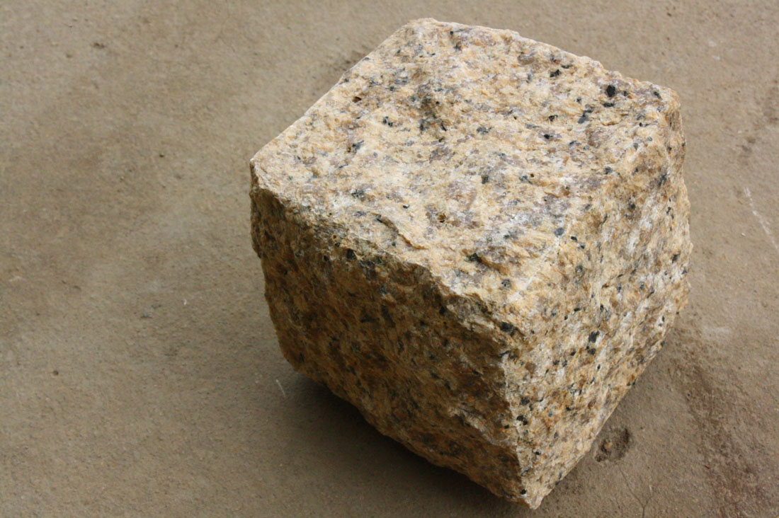 Yellow Granite Cubic Stone for Paving
