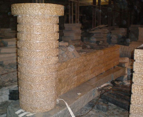 Yellow Granite Stone Landscaping Wall Stones
