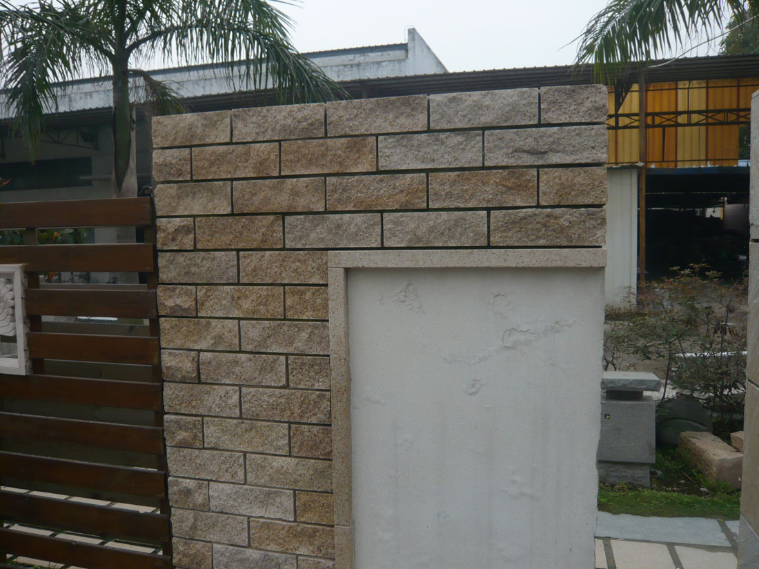 Yellow Granite Wall Stone for Landscaping Design