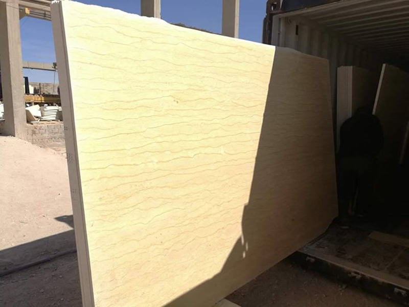 Yellow Marble Slabs Silvia Marble Slabs with High Quality