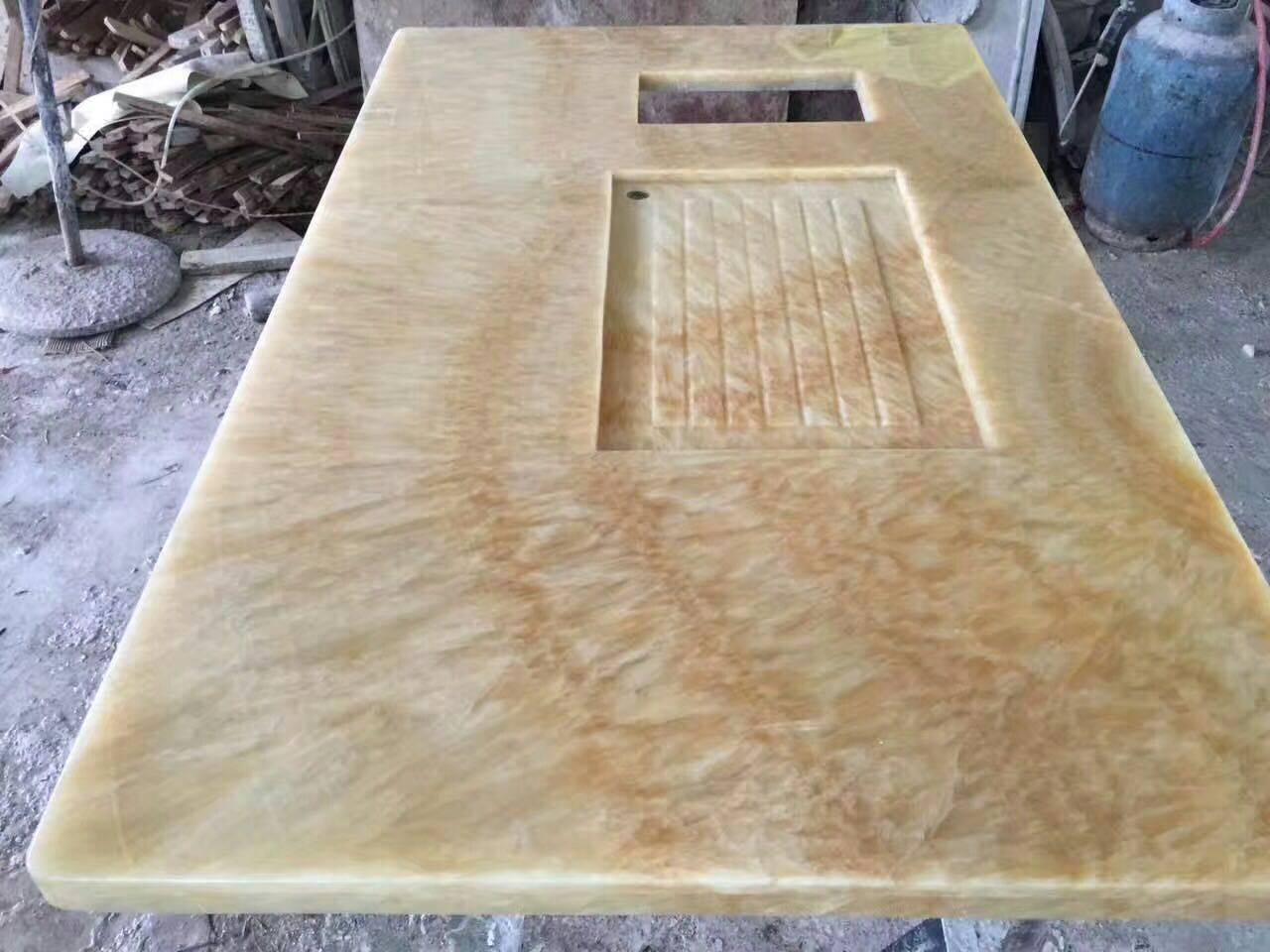 China Honey Onyx ,Luxury Vanity top for Bathroom
