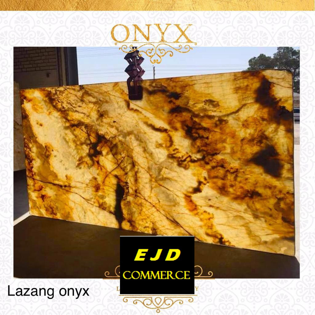 Yellow Polished Onyx Slabs