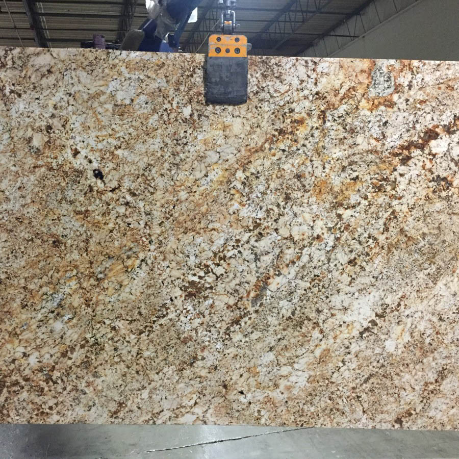 Yellow River Granite Yellow Polished Slabs