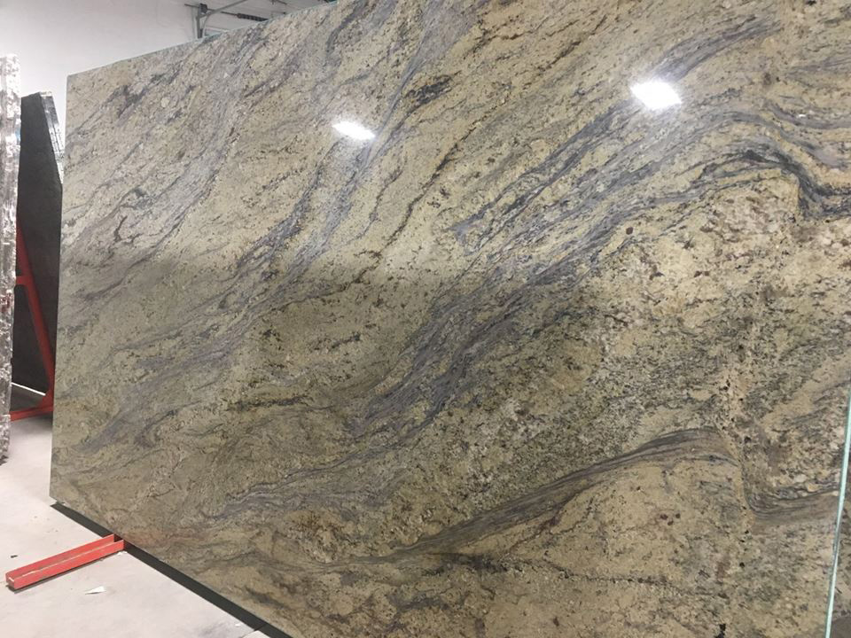 Yellow River Polished Granite Big Slabs for Countertops