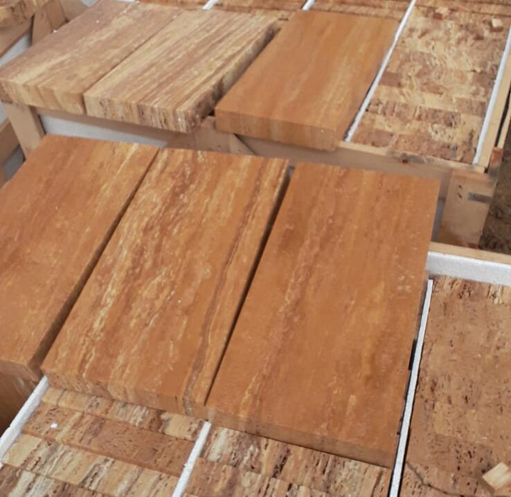 Yellow Travertine Tiles Turkish Travertine Stone Flooring Tiles