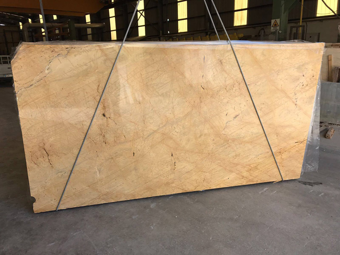 Yellow Triana Marble Slabs 2CM Polished Marble Slabs