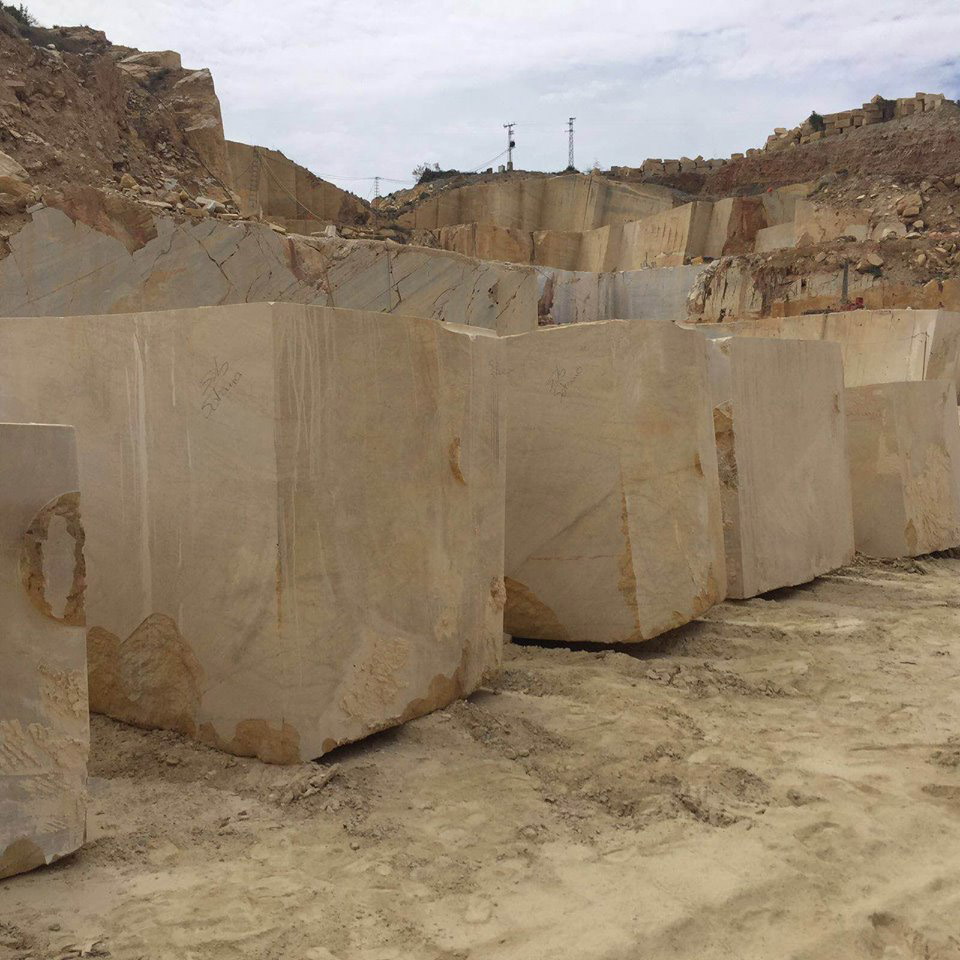 Yellow Triana Natural Marble Blocks from Spain Quarry