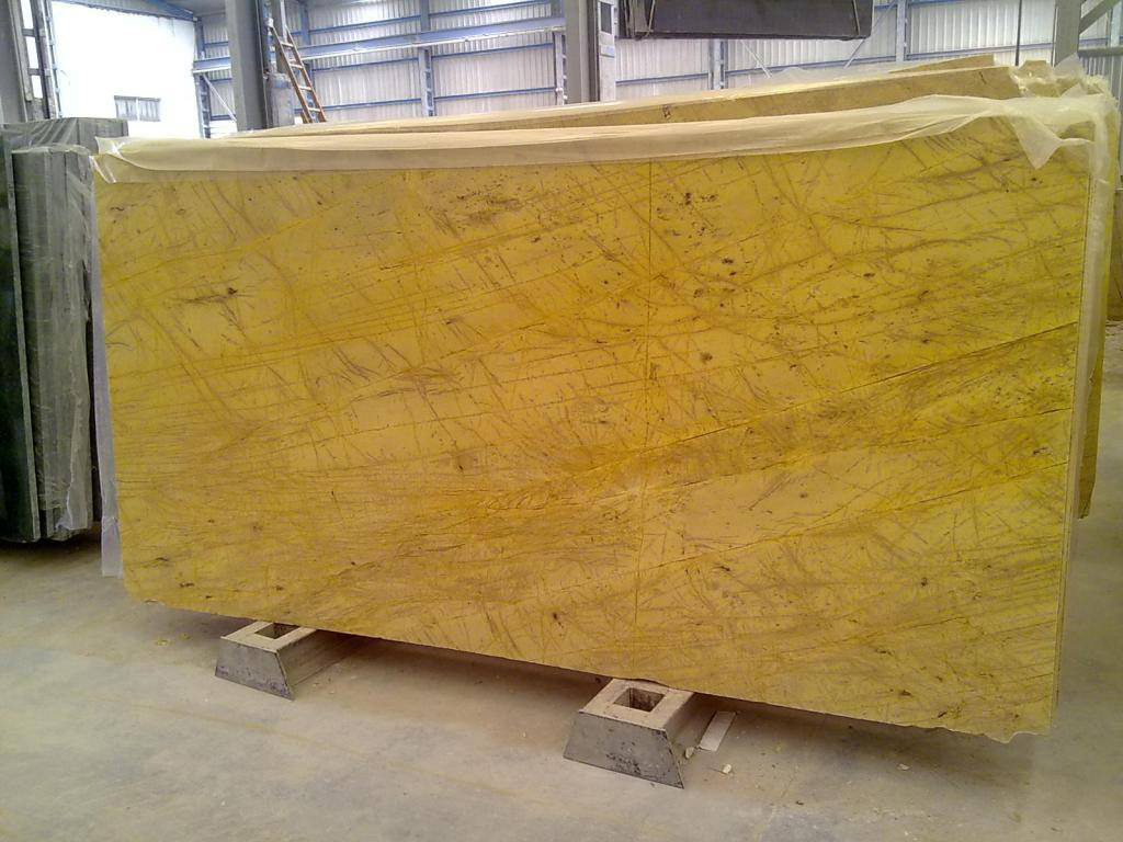 Yellow Triana Slabs Yellow Polished Marble Slabs
