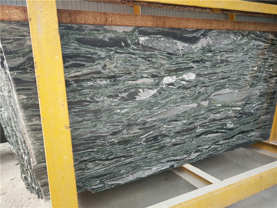 Yunnan Landscape Green Granite Slabs from Chinese Supplier