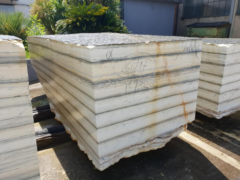 Zebrino Blocks White Natural Marble Blocks