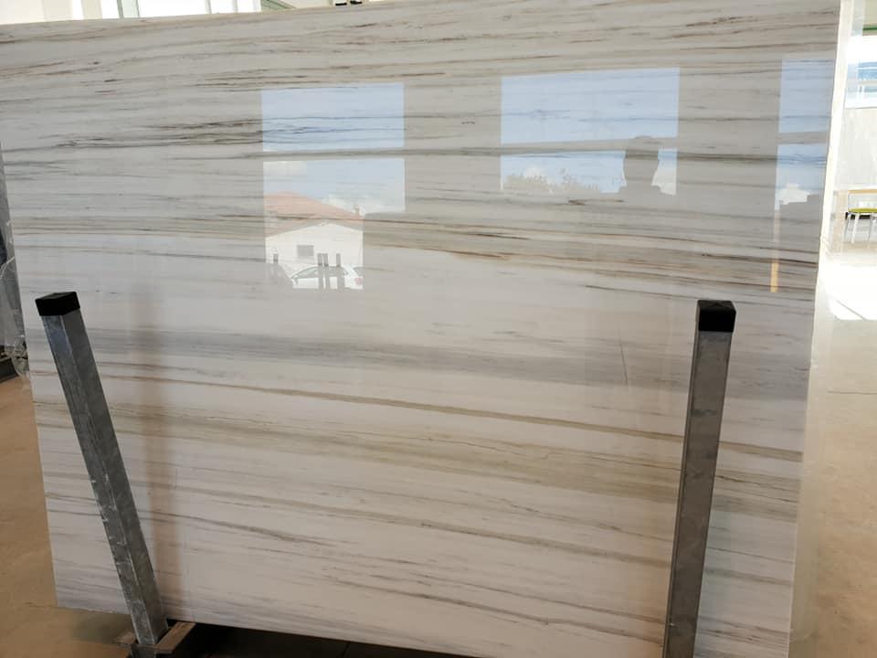 Zebrino Polished Slabs White Marble Slabs