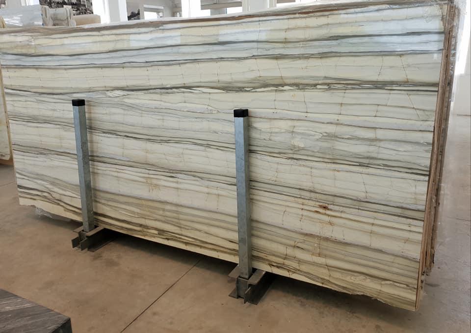 Zebrino Slabs Natural Marble White Slabs