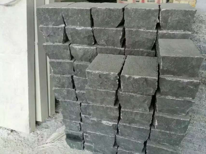 Zhangpu Black Basalt Cube Stone for Paving