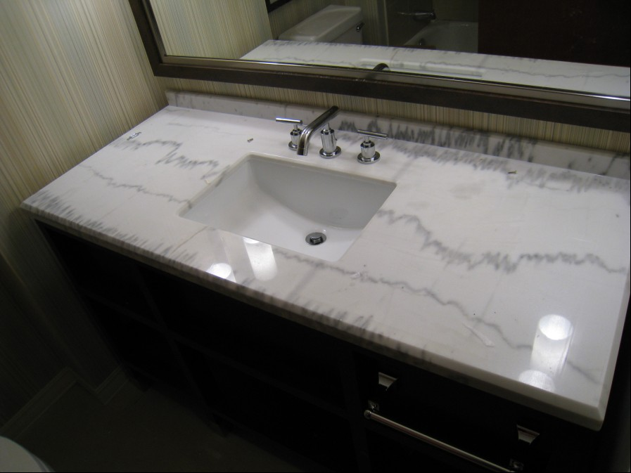 beautiful white marble vanity top countertop