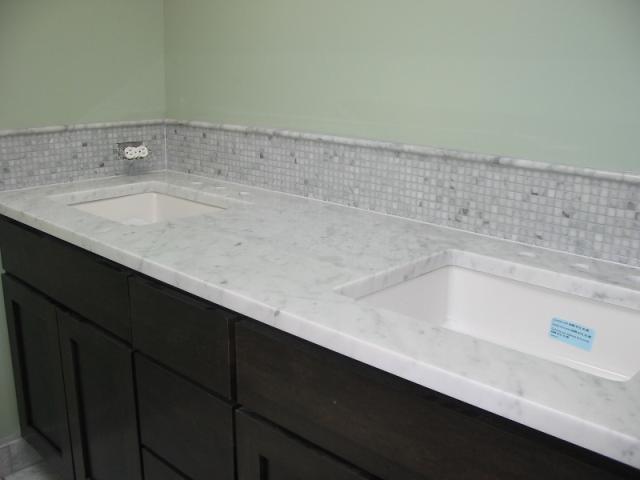 bianco carrara marble vanity tops