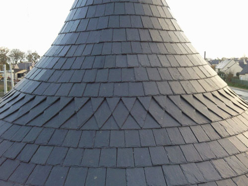 black roofing slate tiles