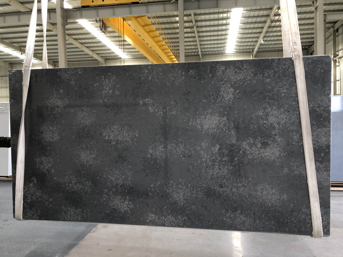 black quartz slab quartz countertop 2003