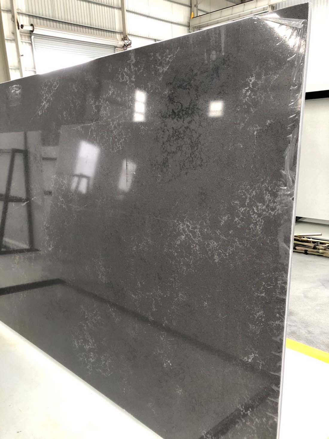 black quartz slab quartz countertop 2007