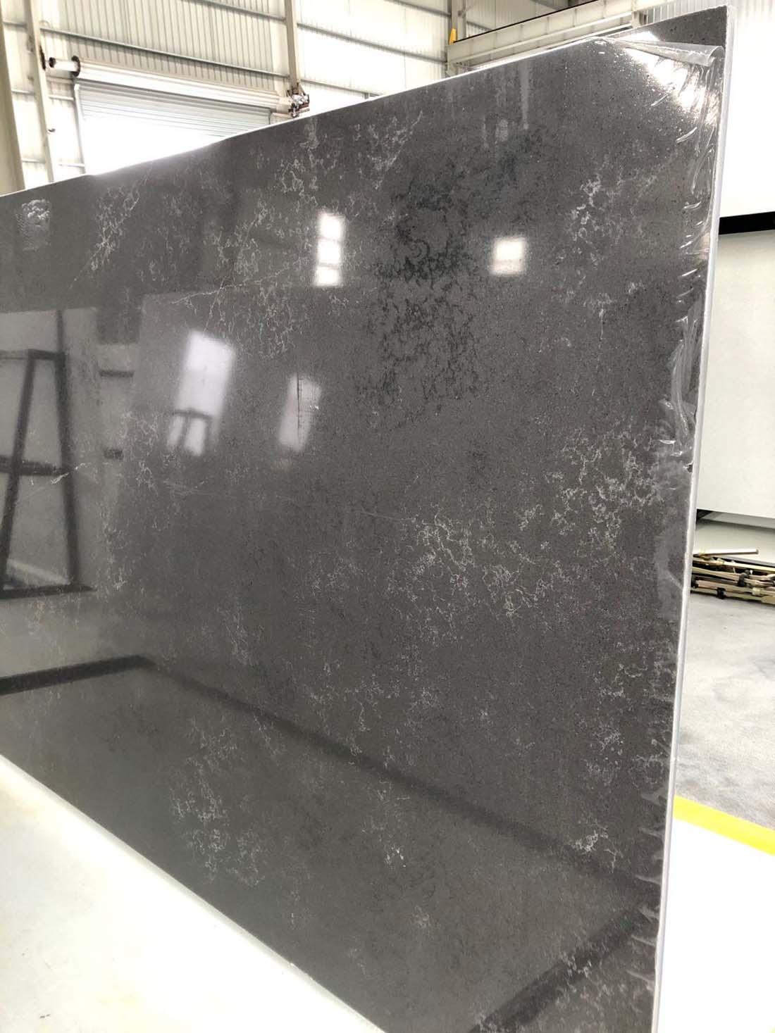 black quartz slab quartz countertop 2007