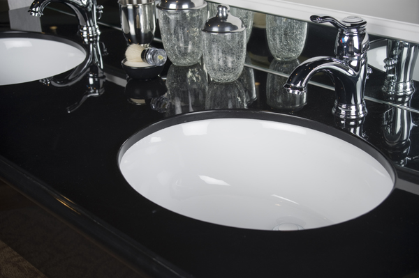 black countertop vanity tops