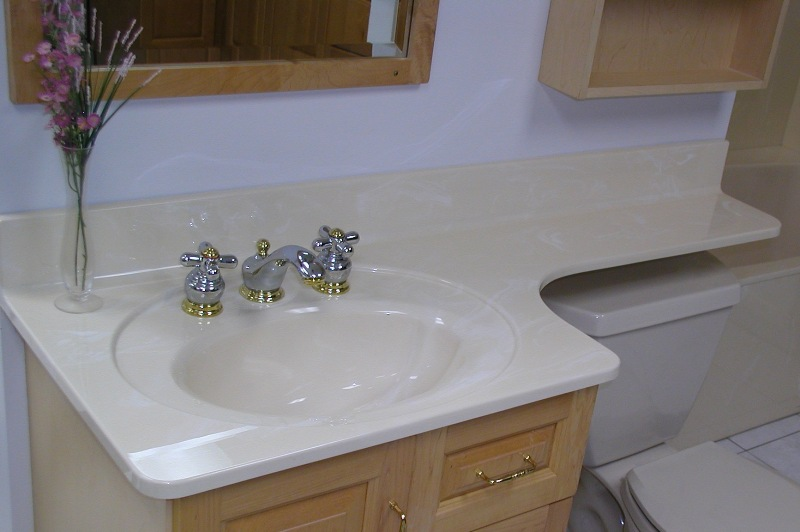 White Marble Vanity Tops for Bathroom