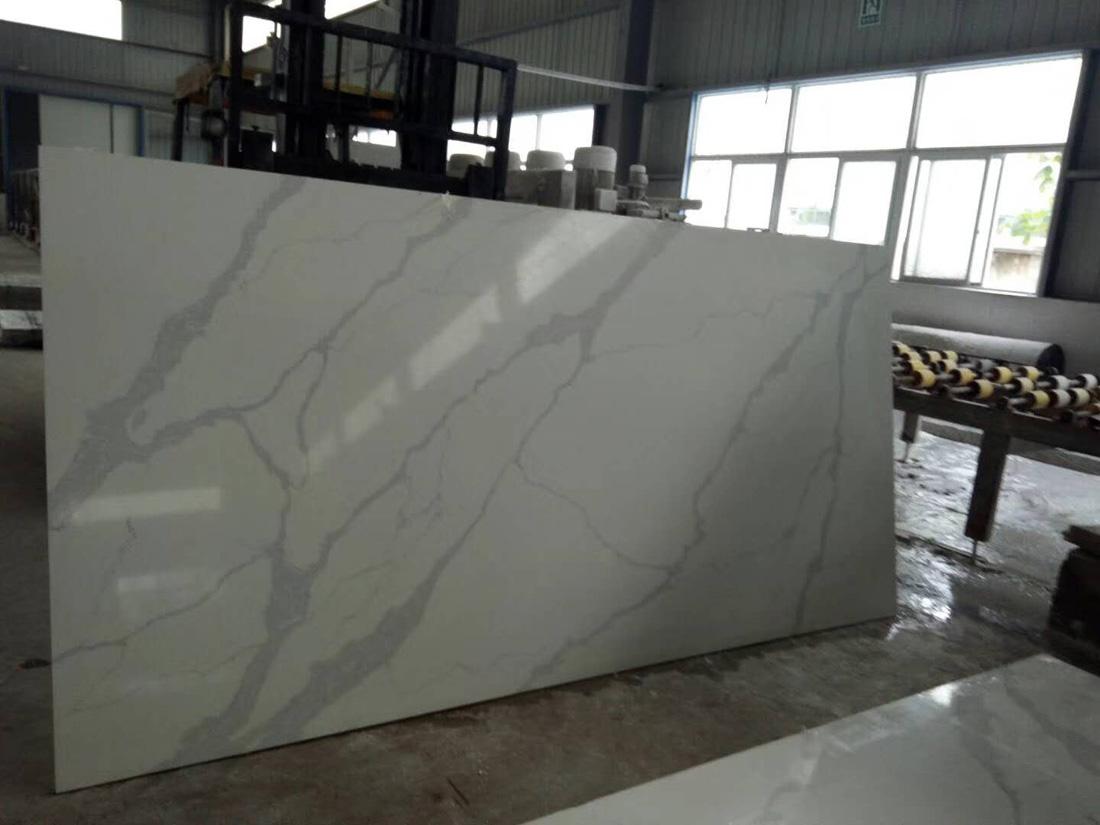 China Calacatta Quartz Slab 5221