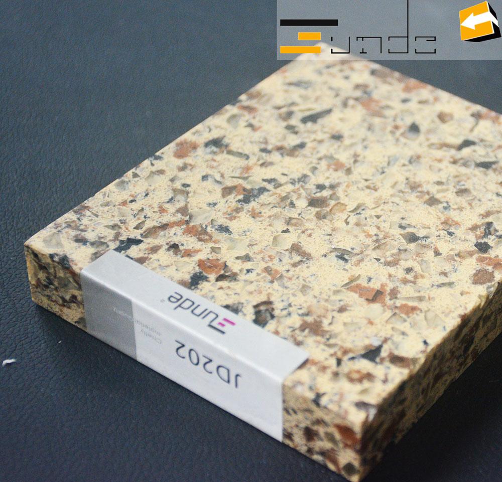 calacatta beige quartz tile jd202-2