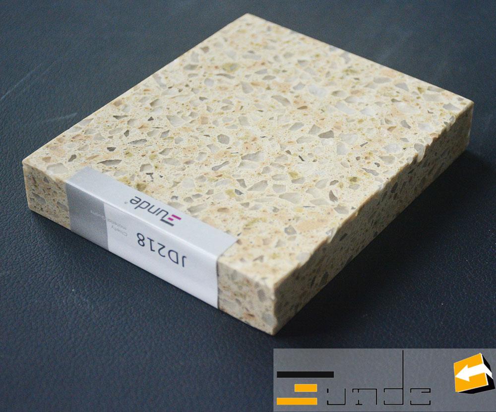 calacatta beige quartz tile jd218-1