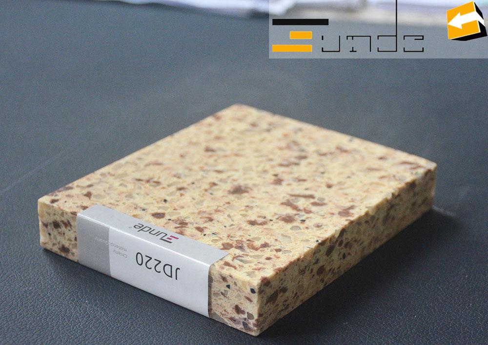 calacatta beige quartz tile jd220-1