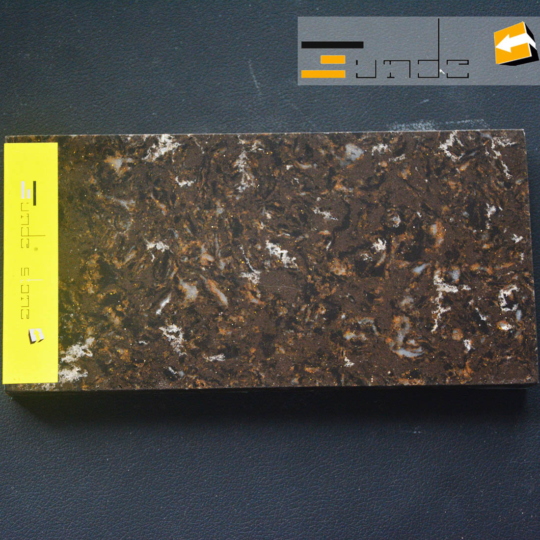 calacatta brown quartz stone lw5204-1