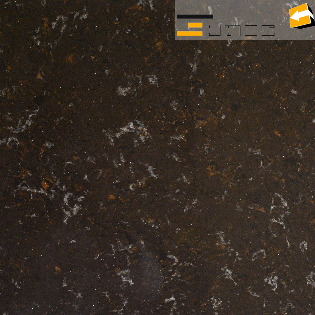 calacatta brown quartz stone lw5204