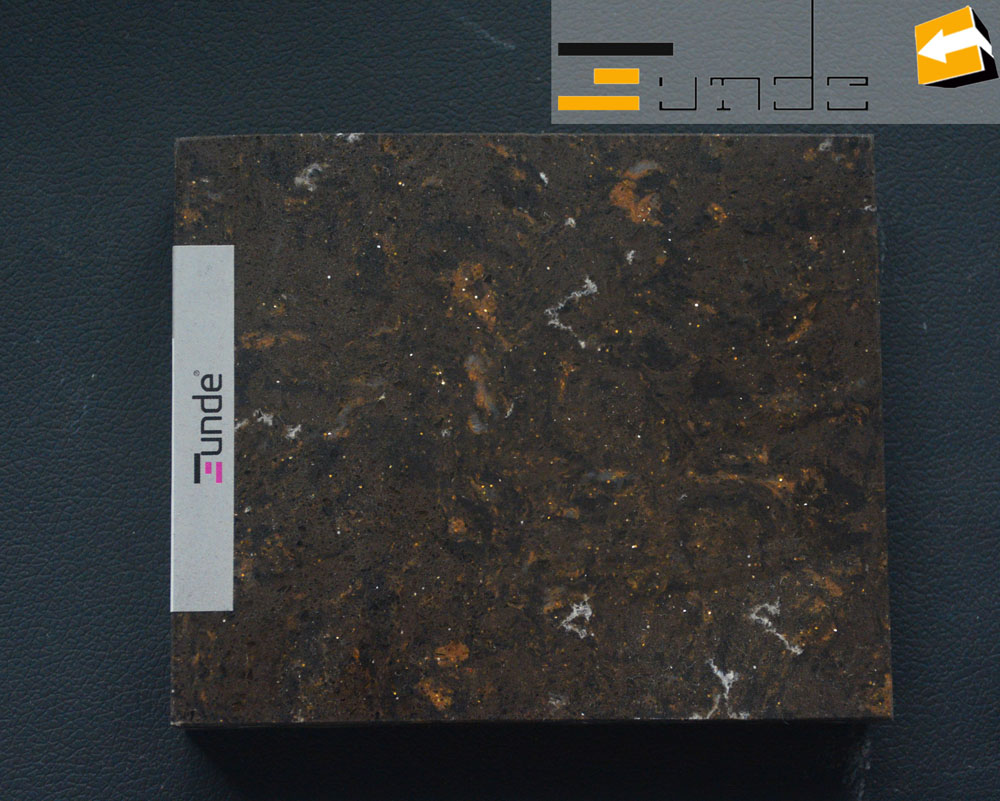 calacatta brown quartz stone jd404-3