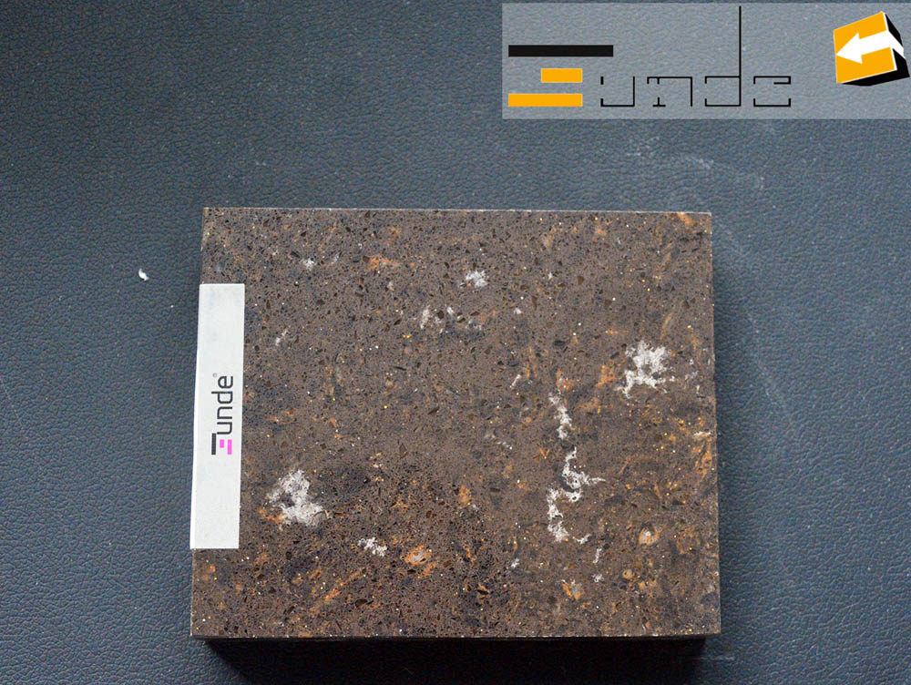 calacatta brown quartz stone jd404