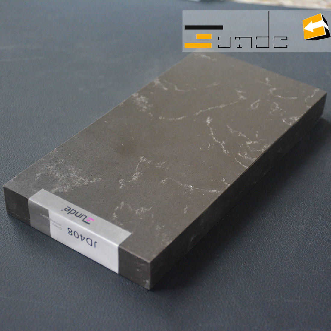 calacatta grey quartz stone sample jd408-3