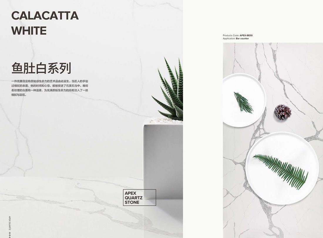 calacatta white quartz stone 2