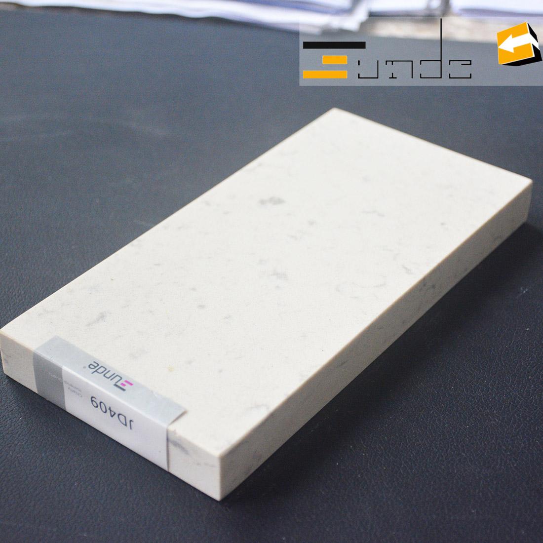 calacatta white quartz stone sample jd409-1