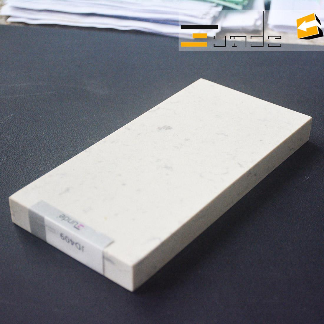 calacatta white quartz stone sample jd409-2