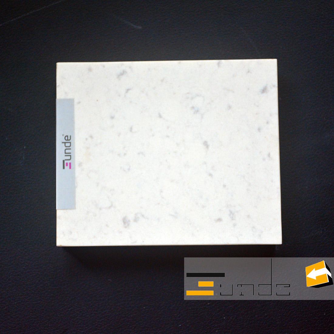 calacatta white quartz stone sample jd409-3