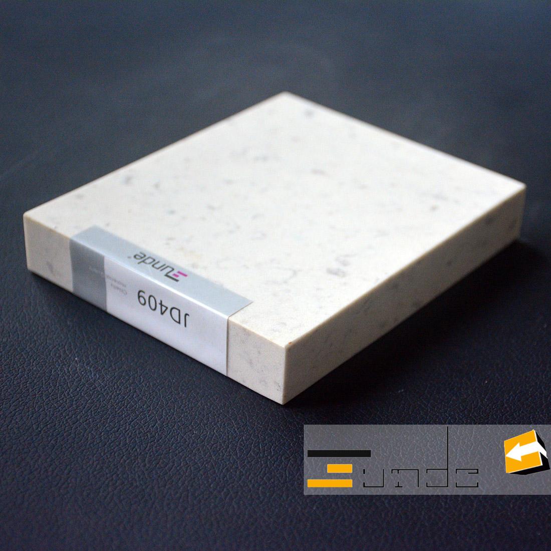 calacatta white quartz stone sample jd409-4