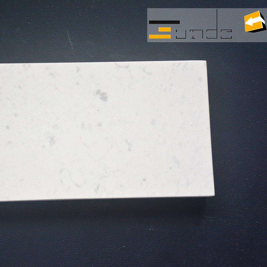 calacatta white quartz stone sample jd409