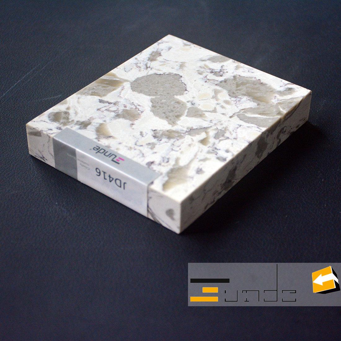 calacatta white quartz stone sample jd416-2