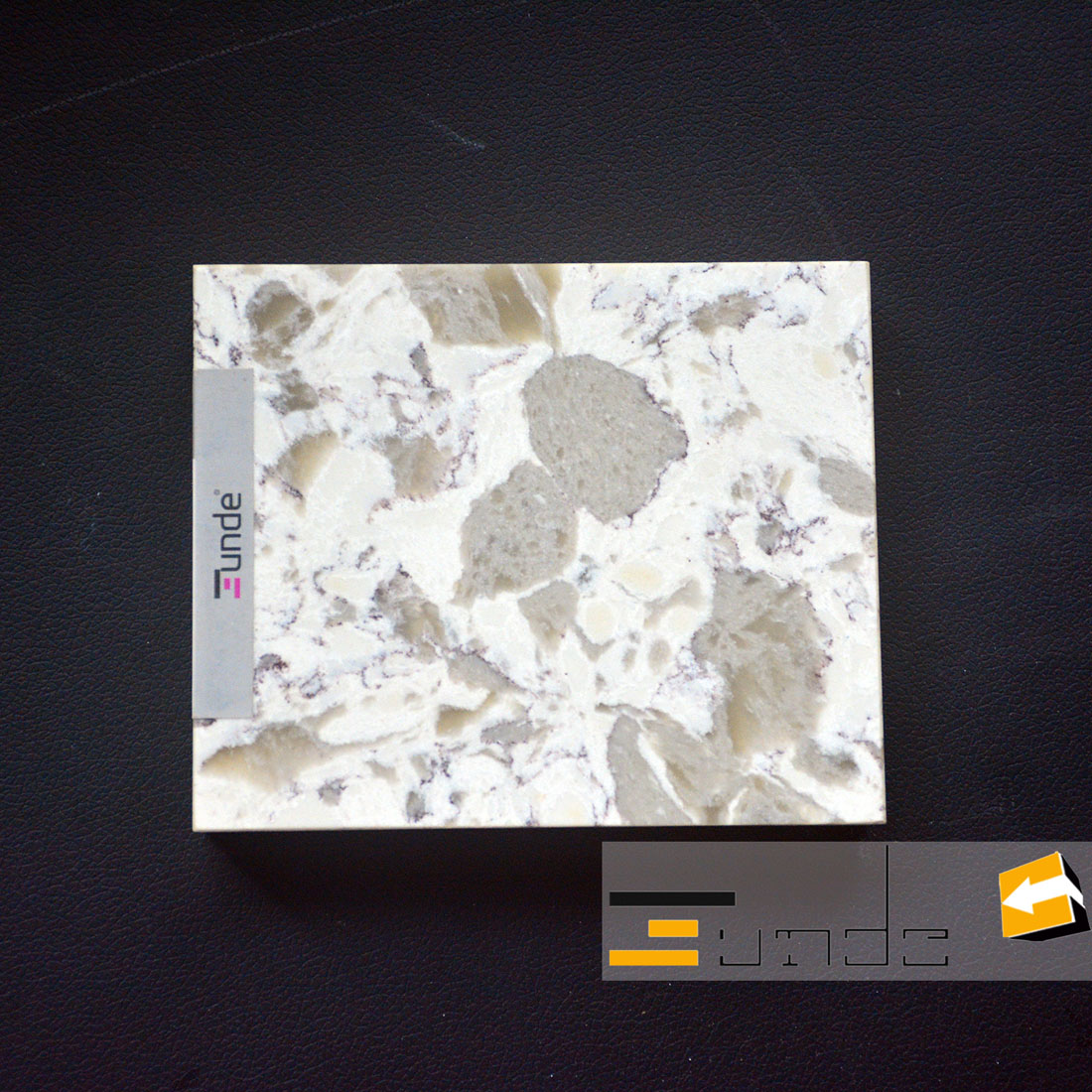 calacatta white quartz stone sample jd416-3
