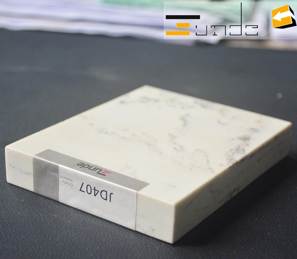 calacatta white quartz stone sample jd407-1