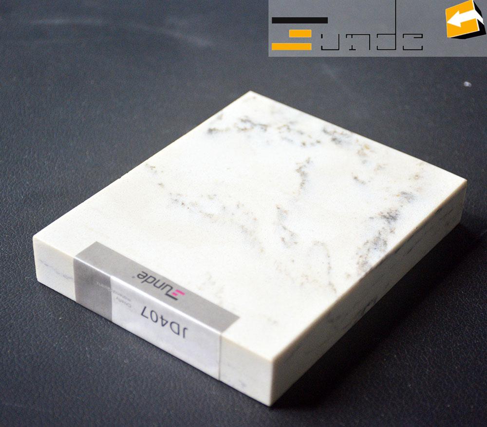 calacatta white quartz stone sample jd407-2