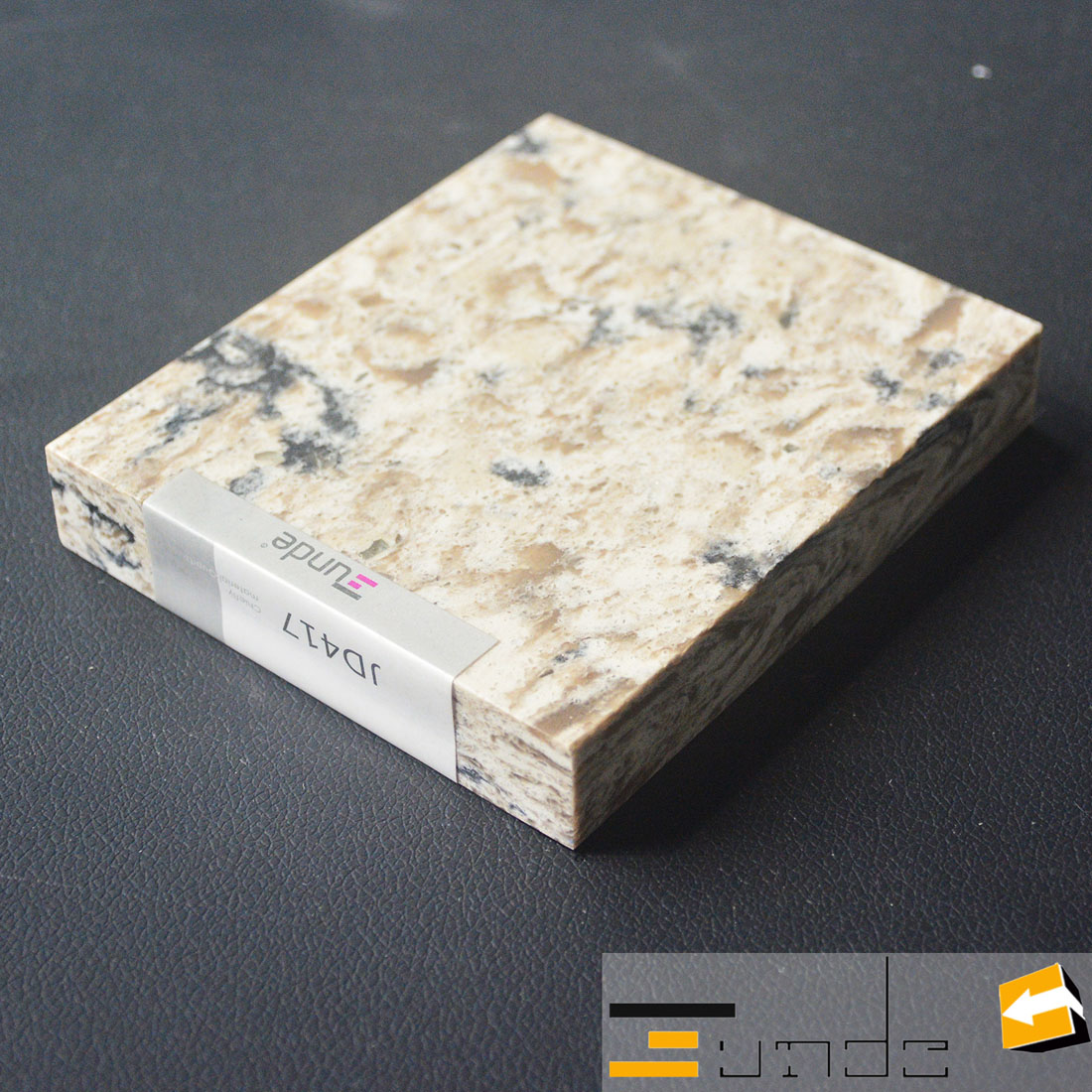 calacatta yellow quartz stone sample jd417-1