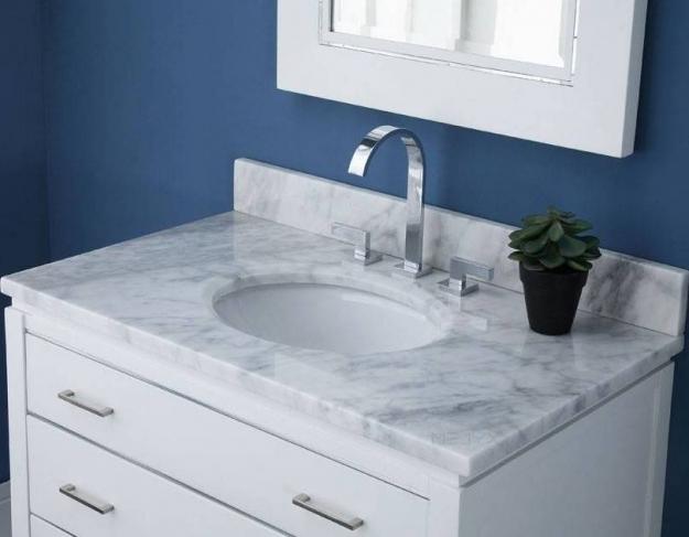 marble vanity top white