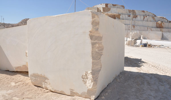 white natural limestone