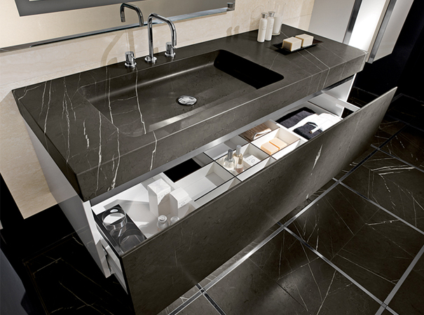 marble vanity larger black